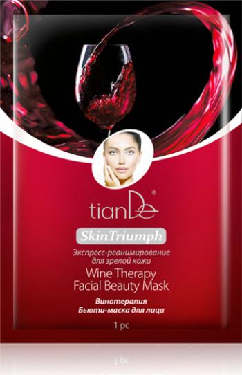 Masca-beauty de fata Terapie cu vin 1 buc TianDe Masti, exfoliant, tonice