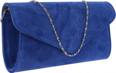 Plic elegant din piele intoarsa albastru regal model 08 MAGAZINUL DE GENTI Genti de dama