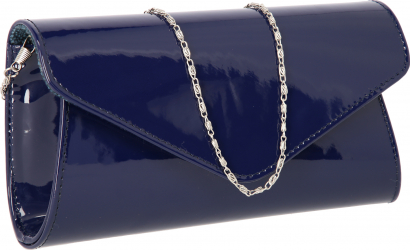 Plic elegant din piele lacuita bleumarin model 08 MAGAZINUL DE GENTI