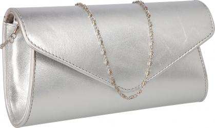 Plic elegant din piele naturala argintiu fin model 08 MAGAZINUL DE GENTI
