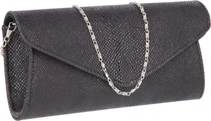 Plic elegant negru din piele naturala cu aspect de picuri de ceara model 08 MAGAZINUL DE GENTI