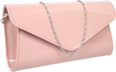 Plic elegant roz pudra din piele lacuita model 08 MAGAZINUL DE GENTI