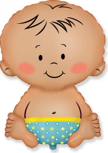 Balon figurina Baby Boy multicolor 67 cm x 46 cm Decoratiuni petreceri