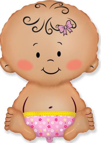 Balon figurina Baby Girl multicolor 67 cm x 46 cm Decoratiuni petreceri