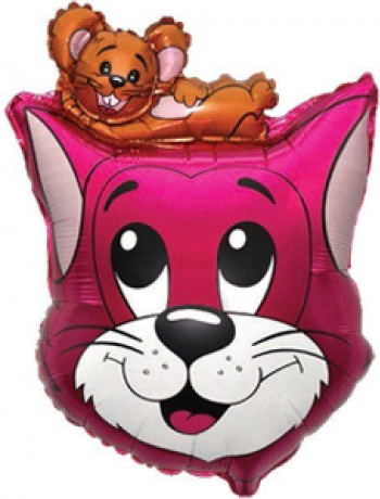 Balon figurina Cat/Mouse multicolor 47 cm x 70 cm Decoratiuni petreceri