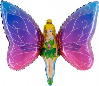 Balon figurina Lady Butterfly multicolor 90 cm x 60 cm Decoratiuni petreceri