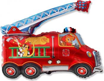 Balon figurina masina pompieri multicolor 74 cm x 43 cm Decoratiuni petreceri