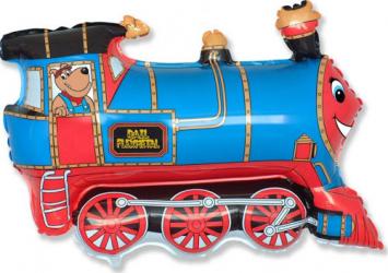 Balon figurina tren multicolor 45 cm x 80 cm Decoratiuni petreceri
