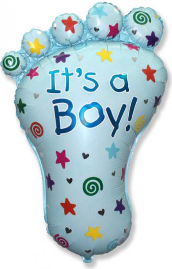 Balon folie talpa imprimat Its a boy multicolor 87 cm x 60 cm Decoratiuni petreceri
