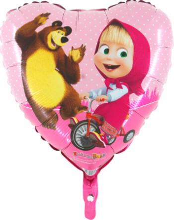 Balon folie Masha inima multicolor 45 cm Decoratiuni petreceri