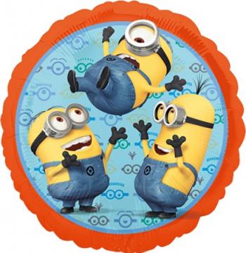 Balon folie Minioni 3 multicolor 45 cm Decoratiuni petreceri