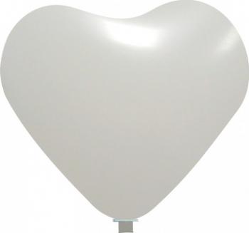 Balon latex jumbo inima alb 65 cm Decoratiuni petreceri