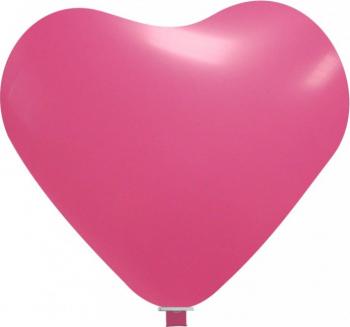 Balon latex jumbo inima fuchsia 65 cm Decoratiuni petreceri