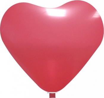 Balon latex jumbo inima rosu 65 cm Decoratiuni petreceri