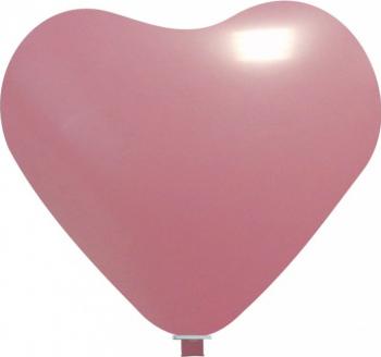 Balon latex jumbo inima roz deschis 65 cm Decoratiuni petreceri