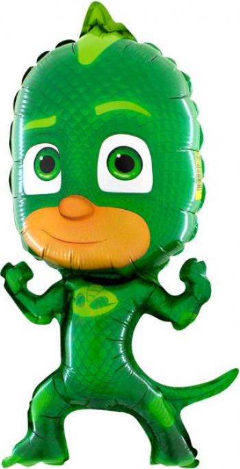 Balon mini figurina eroi in pijama Sopi verde 30 cm Decoratiuni petreceri