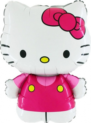 Balon mini figurina HELLO KITTY rosu 30 cm Decoratiuni petreceri