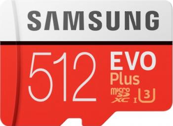 Card memorie Samsung MB-MC512HAEU Micro-SDXC EVO Plus 512GB rata transfer rw 10090 MBs Class 10 UHS-I Adaptor SD inclus Carduri Memorie