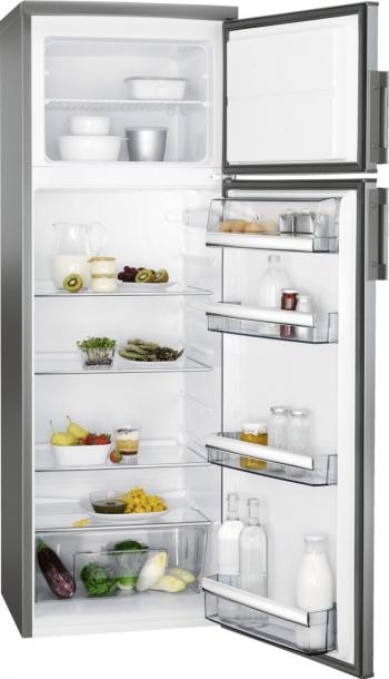 Combina frigorifica 259 litri A++ Static H 159 cm inox antiamprenta