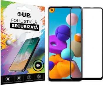 Folie Sticla Full Cover Full Glue Upzz Samsung Galaxy A21s Cu Adeziv Pe Toata Suprafata Foliei Neagra Folii Protectie