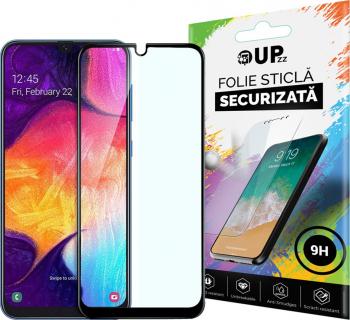 Folie Sticla Full Cover Full Glue Upzz Samsung Galaxy M10 Cu Adeziv Pe Toata Suprafata Foliei Neagra