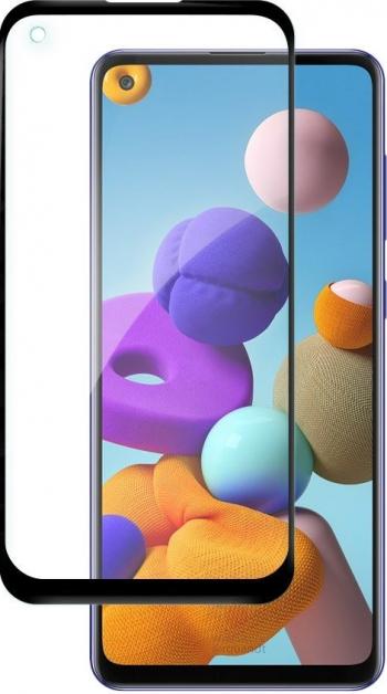 Folie Sticla Nano Glass Full Glue Flex Upzz Samsung Galaxy A21s Negru Ultra Rezistenta Folii Protectie