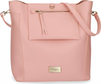Geanta shopping 35 cm Pepe Jeans Angelica roz Genti de dama