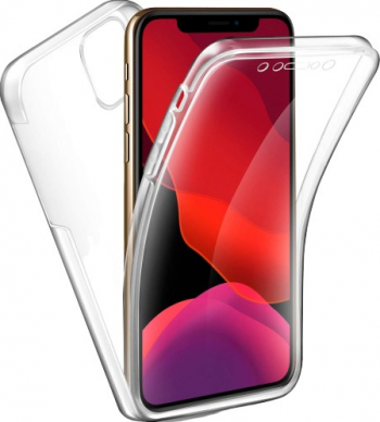 Husa 360 Grade Full Cover Upzz Case Silicon iPhone 11 Pro Max Transparenta Huse Telefoane
