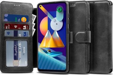 Husa Flip Carte Upzz Tech Wallet Samsung Galaxy M11 Negru