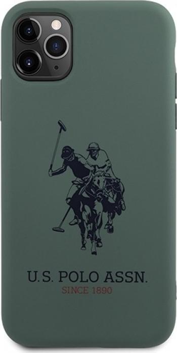 Husa Premium Originala Us Polo Assn iPhone 11 Pro Max Verde -ushcn65slhrgn Huse Telefoane