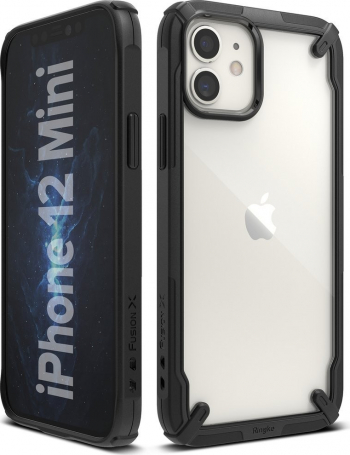 Husa Premium Ringke Fusion X Compatibila Cu iPhone 12 Mini Negru Huse Telefoane