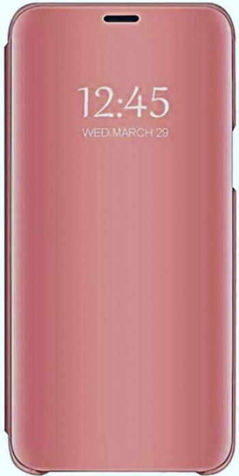 Husa Tip Carte Mirror Samsung Galaxy A10 Rose Gold- Cu Folie Sticla Marca Upzz Inclusa