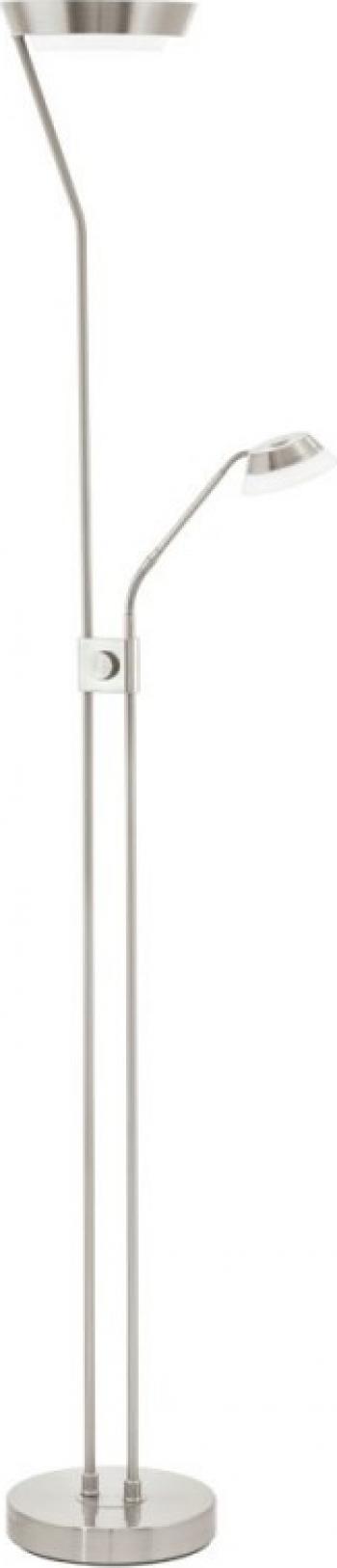 Lampadar EGLO Sarrione 93713 LED 17 28W 2 88W 4 5W Nichel satinat Corpuri de iluminat