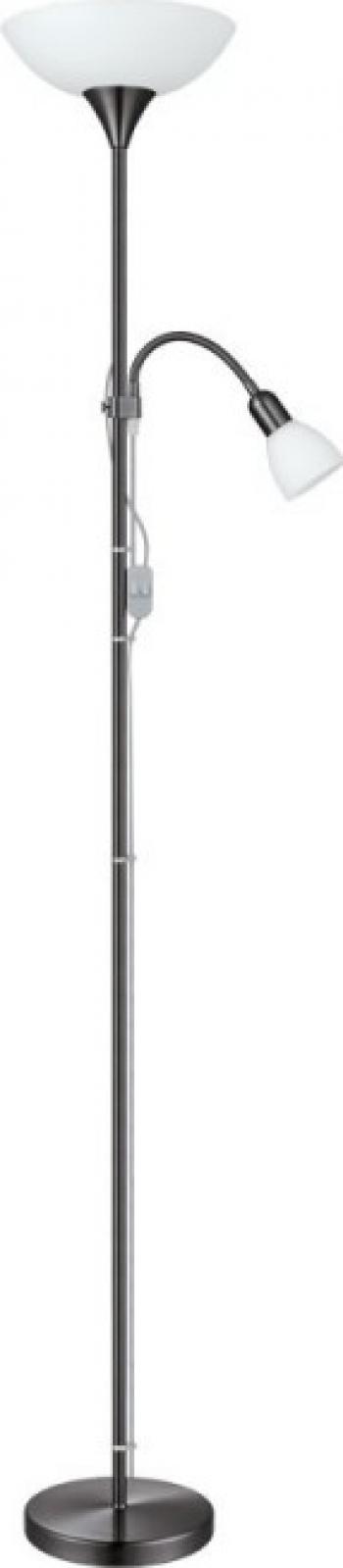 Lampadar EGLO UP2 93917 E27 60W E14 25W crom fumuriu
