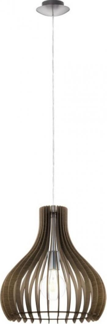 Pendul lemn EGLO TINDORI 96259 E27 1X60W and Oslash 380mm Brun