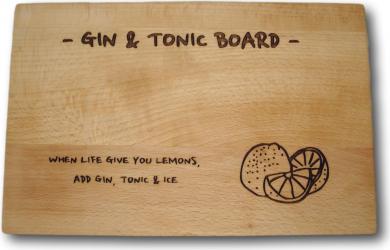 Platou din lemn Gin and Tonic Articole pentru servit
