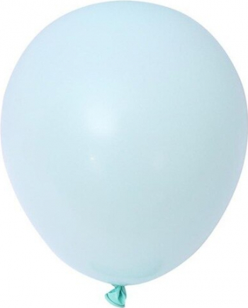Set 10 baloane latex pastel macaron albastru 13 cm Decoratiuni petreceri