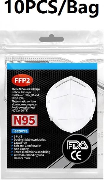 10 Masti FFP2 set masti de protectie faciala 5 straturi CE Masti chirurgicale si reutilizabile