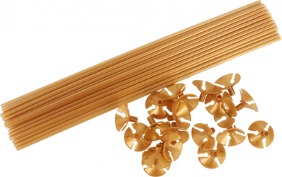 Set 15 bete suport cu rozete aurii pentru baloane Decoratiuni petreceri