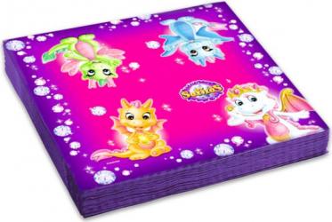 Set 20 servetele Safiras multicolor 33x33 cm Cani, pahare, accesorii masa