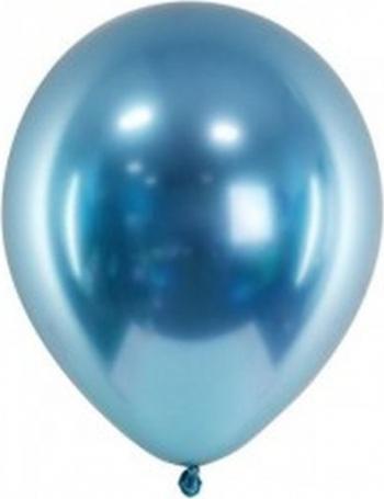 Set 6 baloane latex chrome albastru 30 cm Decoratiuni petreceri