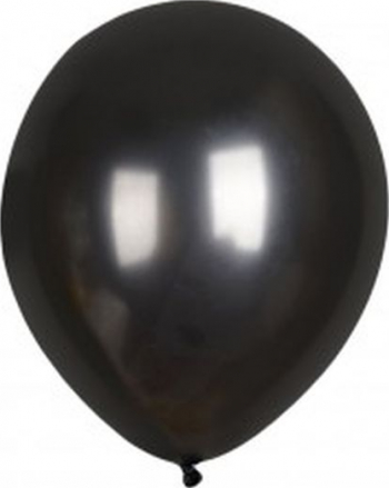 Set 6 baloane latex chrome negru 30 cm Decoratiuni petreceri