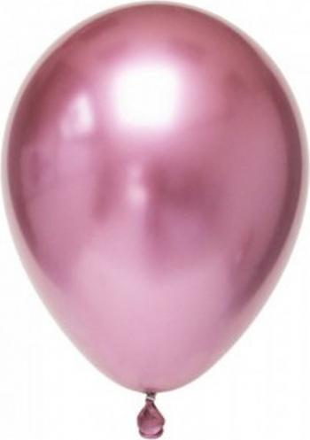 Set 6 baloane latex chrome roz 15 cm Decoratiuni petreceri