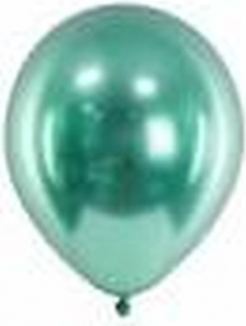 Set 6 baloane latex chrome verde 30 cm Decoratiuni petreceri