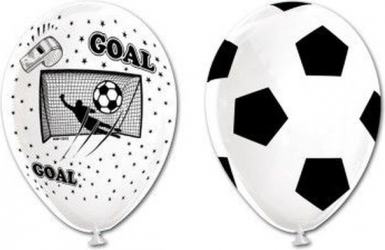 Set 6 baloane latex imprimate fotbal 30 cm Decoratiuni petreceri