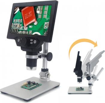 MUSTOOL G1200 Microscop digital 12MP 7 inch ecran color de baza mare Display LCD 1-1200X continua