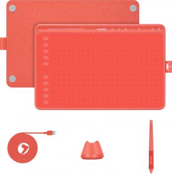 Tableta Grafica Profesionala Huion HS611 Touch Bar 8192 niveluri presiune TILT and plusmn 60 and deg include 8 varfuri rezerva Tablete Grafice
