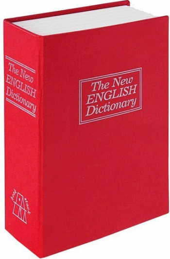 Caseta tip carte BookSafe cheie 240 X 155 X 55 mm rosie