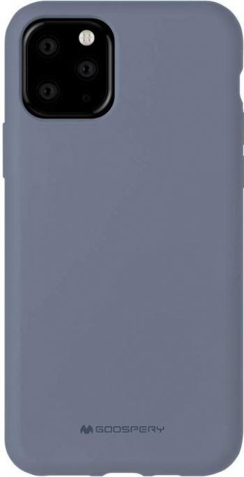 Husa Spate Mercury Silicone iPhone 11 Pro cu Interior Alcantara lavander Gri Huse Telefoane
