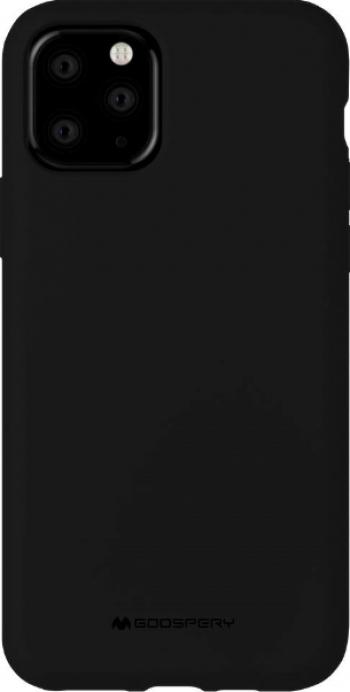 Husa Spate Mercury Silicone iPhone 11 Pro cu Interior Alcantara negru Huse Telefoane